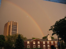 Howe Center rainbow