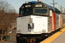 NJT 4119 at Roselle Park
