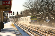LIRR in the snow