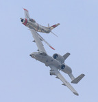 F-86 and A-10 Heritage Flight