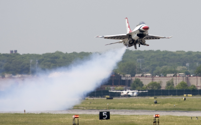 Smokey takeoff